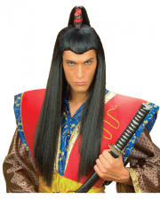 Herrenperücke Samurai mit Zopf