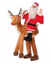 Santa auf Rentier Aufsitz Kostüm