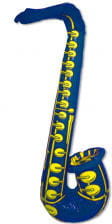 Aufblasbares Saxophon blau