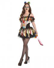 Scary Clown Petticoat Ladies Costume