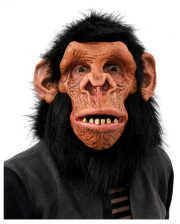 Chimpanzee Full Head Mask With Hair