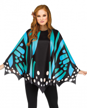 Butterfly Wings Poncho Blue