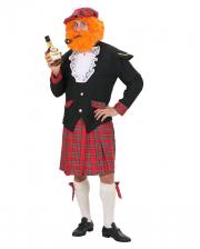 Schotten Kostüm mit Kilt & Mütze