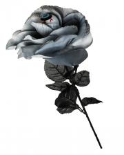 Schwarz/Graue Rose mit Augapfel