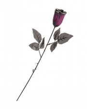 Violet Gothic Rose With Glitter