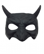Black Goblin Half Mask With Horns