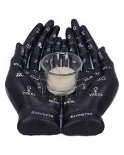 Black Handlese Hands Candle Holder