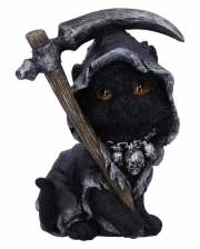 Black Witch Cat With Scythe 10,2cm
