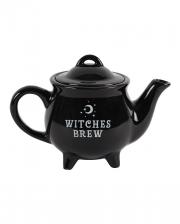 Black Witch Cauldron Teapot