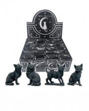 Schwarze Katze Glücksbringer 9cm
