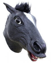 Schwarze Pferdemaske mit Haaren