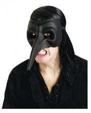 Venetian beak mask matt black