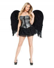Black angel wings large