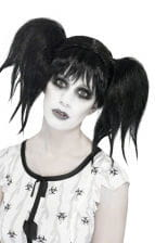 Abby Pigtail Wig Black