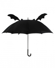 Black Umbrella With Bat Wings
