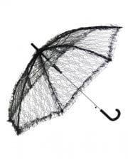 Schirm mit Spitze schwarz