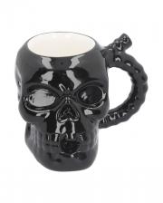Black Ceramic Skull Mug