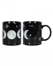 Schwarzer Triple Moon Kaffeebecher