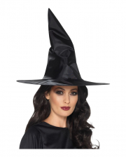Black Satin Witch Hat