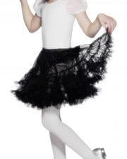 Schwarzer Petticoat für Mädchen