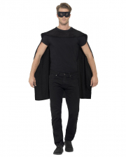 Black Cape With Eye Mask