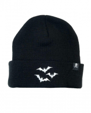Black Beanie With White Bats