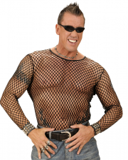 Unisex Black mesh shirt ML