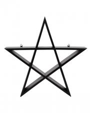 Schwarzes Pentagramm Regal 40cm
