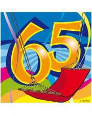 Napkins Swirls 65th Birthday
