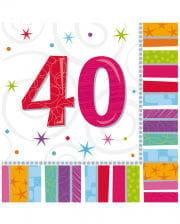 Napkins Happy Birthday 40