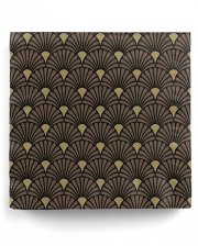 Servietten Art Deco Schwarz Gold 20 St.