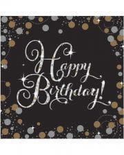 Servietten Happy Birthday Glamour 16 St.