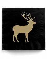 Napkins Deer Silhouette Black Gold 20 Pcs.