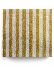 Servietten Luxury Streifen gold-beige 15 St.