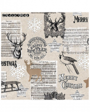 Servietten Merry Christmas Hirsch Collage 20 St.