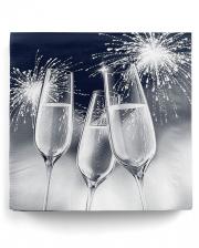 Napkins champagne glasses blue 20 pc.