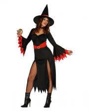 Sexy Witch Hexenkostüm schwarz/rot