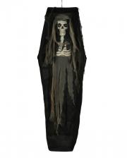 Leuchtendes Skelett im Sarg 160cm