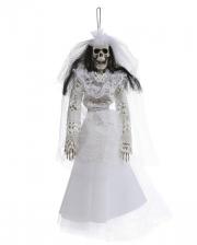 Skeleton Bride Hanging Figure 40cm