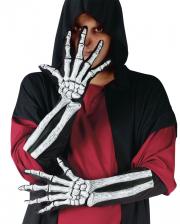 Skelett 3D Handschuhe weiß