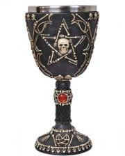 Skeletal cup with pentagram
