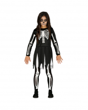 Skeleton Girl Halloween Costume For Children