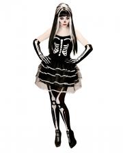 Skeleton Mini Dress With Gloves