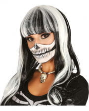 Skeleton Wig Black-white