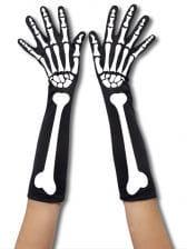 Skelett Handschuhe Lang