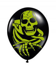 Skelett Luftballons 8 St.
