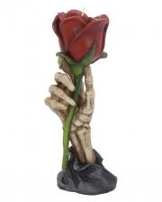 Skeleton Hand With Rose Tealight Holder