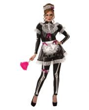 Skeletonized maid costume