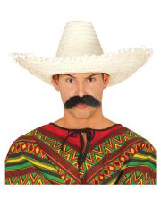 Sombrero With Pompons Beige
