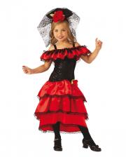 Spanische Flamenco Tänzerin Kostüm für Kinder
